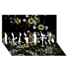 Little White Flowers 2 Best Bro 3d Greeting Card (8x4)  by timelessartoncanvas