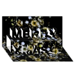 Little White Flowers 2 Merry Xmas 3d Greeting Card (8x4)  by timelessartoncanvas