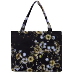 Little White Flowers 2 Mini Tote Bag by timelessartoncanvas