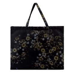 Little White Flowers 3 Zipper Large Tote Bag