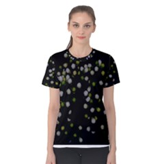 Little White And Green Dots Women s Cotton Tee by timelessartoncanvas