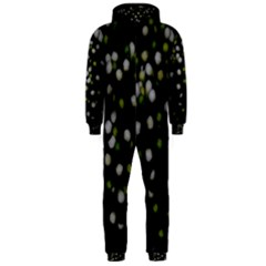 Little White And Green Dots Hooded Jumpsuit (men)  by timelessartoncanvas