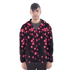 Little Pink Dots Hooded Wind Breaker (men) by timelessartoncanvas