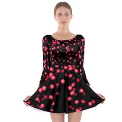 Little Pink Dots Long Sleeve Skater Dress by timelessartoncanvas