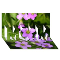 Little Purple Flowers Mom 3d Greeting Card (8x4)  by timelessartoncanvas