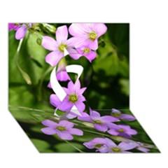 Little Purple Flowers Ribbon 3d Greeting Card (7x5)
