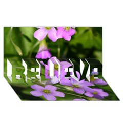 Little Purple Flowers Believe 3d Greeting Card (8x4)  by timelessartoncanvas
