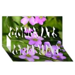 Little Purple Flowers Congrats Graduate 3d Greeting Card (8x4)  by timelessartoncanvas