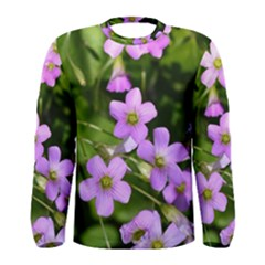Little Purple Flowers Men s Long Sleeve Tee by timelessartoncanvas