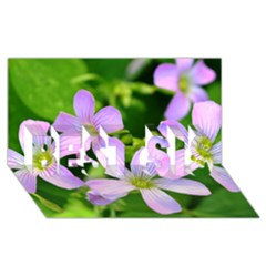 Little Purple Flowers 2 Best Sis 3d Greeting Card (8x4)  by timelessartoncanvas