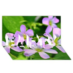 Little Purple Flowers 2 Party 3d Greeting Card (8x4)  by timelessartoncanvas