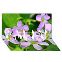 Little Purple Flowers 2 Sorry 3d Greeting Card (8x4)  by timelessartoncanvas