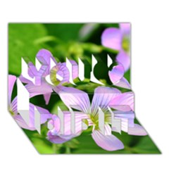 Little Purple Flowers 2 You Did It 3d Greeting Card (7x5) by timelessartoncanvas