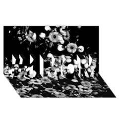 Little Black And White Flowers #1 Mom 3d Greeting Cards (8x4)