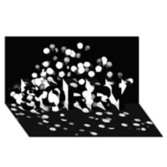 Little Black And White Dots Sorry 3d Greeting Card (8x4)  by timelessartoncanvas
