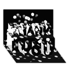 Little Black And White Dots Thank You 3d Greeting Card (7x5)  by timelessartoncanvas