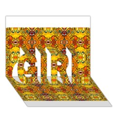 Roof Girl 3d Greeting Card (7x5)