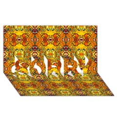 Roof Sorry 3d Greeting Card (8x4)
