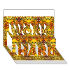 Roof Work Hard 3d Greeting Card (7x5)
