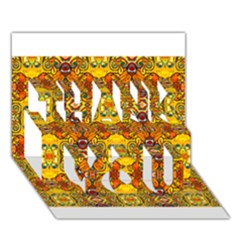 Roof Thank You 3d Greeting Card (7x5)