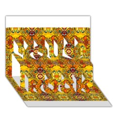 Roof You Rock 3d Greeting Card (7x5)