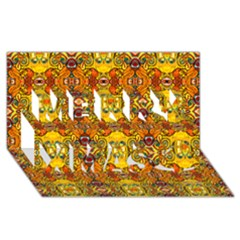 Roof Merry Xmas 3d Greeting Card (8x4)