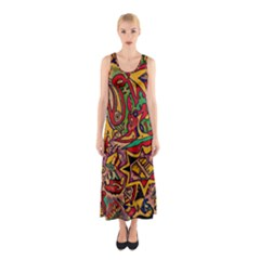 4400 Pix Full Print Maxi Dress