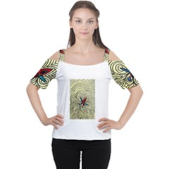 Bipolar Free Will Women s Cutout Shoulder Tee