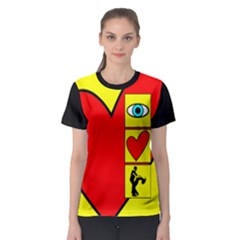 I Love Zouk Women s Sport Mesh Tee by LetsDanceHaveFun