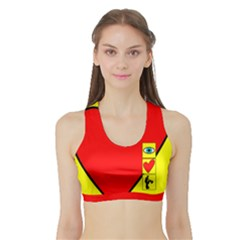 I Love Zouk Women s Sports Bra With Border by LetsDanceHaveFun