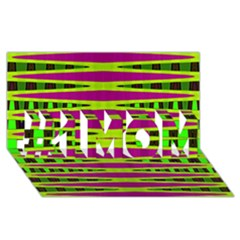 Bright Green Pink Geometric #1 Mom 3d Greeting Cards (8x4)