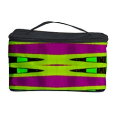Bright Green Pink Geometric Cosmetic Storage Cases by BrightVibesDesign