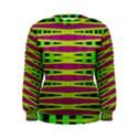 Bright Green Pink Geometric Women s Sweatshirt View1