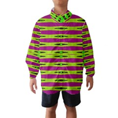 Bright Green Pink Geometric Wind Breaker (kids)