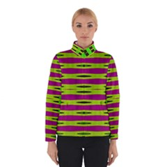 Bright Green Pink Geometric Winterwear