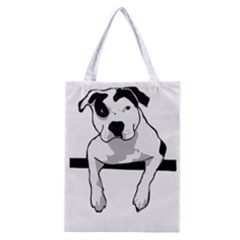 Pit Bull T Bone Graphic  Classic Tote Bag by ButThePitBull
