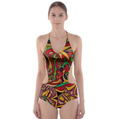 Bipolar Free Will Cut Out One Piece Swimsuit