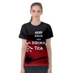 Keep Calm And Drink Tea   Dark Asia Edition Women s Sport Mesh Tee by RespawnLARPer