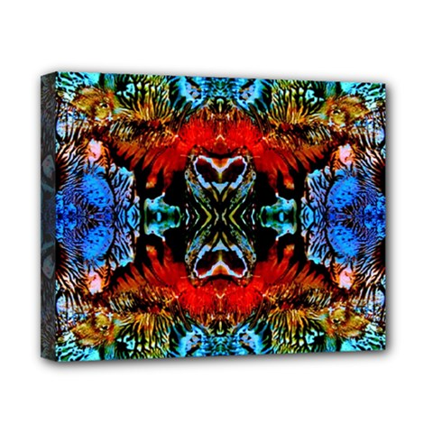 Colorful  Underwater Plants Pattern Canvas 10  X 8  by Costasonlineshop