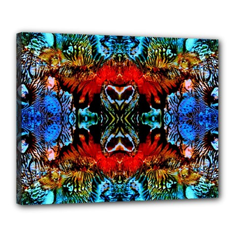 Colorful  Underwater Plants Pattern Canvas 20  X 16  by Costasonlineshop