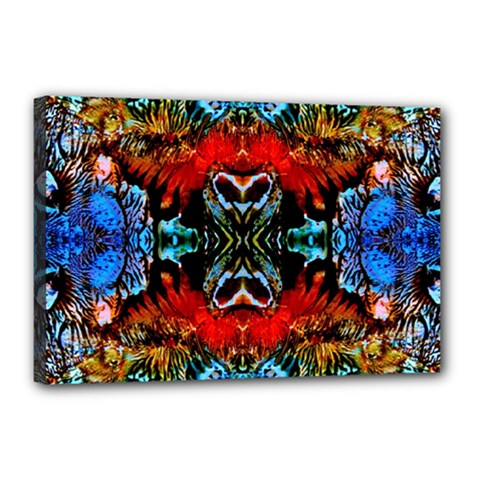 Colorful  Underwater Plants Pattern Canvas 18  X 12  by Costasonlineshop