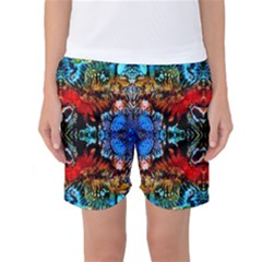 Colorful  Underwater Plants Pattern Women s Basketball Shorts by Costasonlineshop