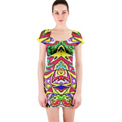 Photoshop 200resolution Short Sleeve Bodycon Dress