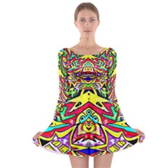 Photoshop 200resolution Long Sleeve Skater Dress