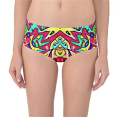 Photoshop 200resolution Mid Waist Bikini Bottoms