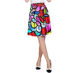 Bipolar Colour Me Up A Line Skirt