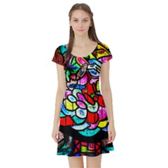 Bipolar Colour Me Up Short Sleeve Skater Dress