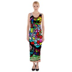 Bipolar Colour Me Up Fitted Maxi Dress