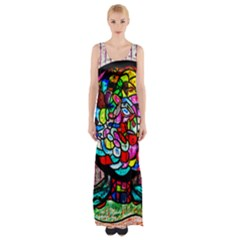 Bipolar Colour Me Up Maxi Thigh Split Dress