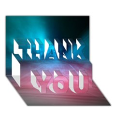 Aura By Bighop Collection Thank You 3d Greeting Card (7x5)  by bighop